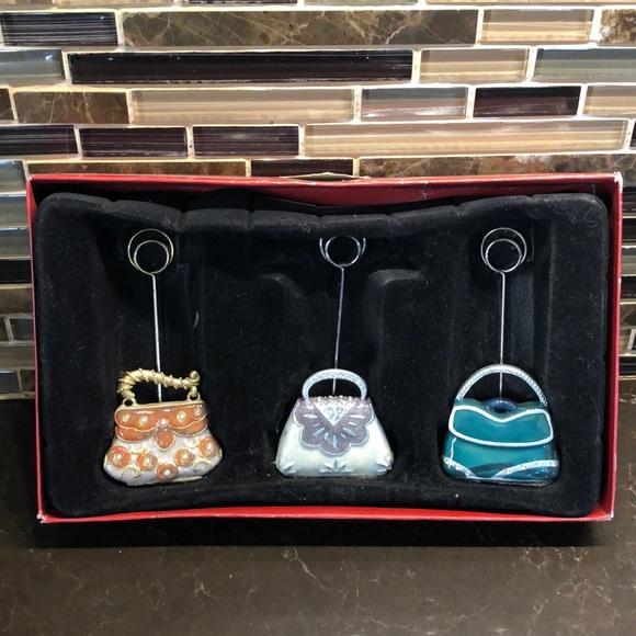 Set of 3 epoxy purse photo holders